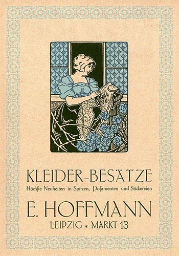 Werbekarte für Posamenten - 1914