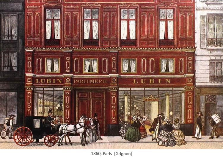 Gemälde: Straßenszene vor Parfümladen - 1860, Paris