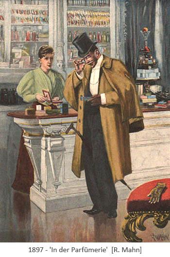 Gemälde: Herr läßt sich betr. Parfüm beraten - 1897
