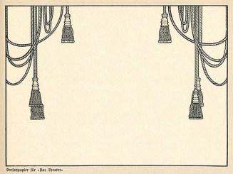 Zeichnung: Kordeln mit Quasten für Theaterbühne