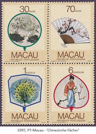 Briefmarken: chinesische Fächer - 1998, Macau-PT