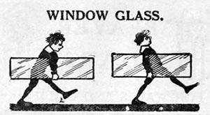 Zeichnung: Fensterglas