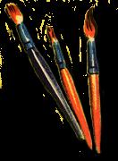 drei Pinsel