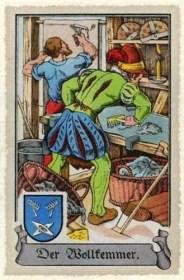 Sammelbild: Wollkämmer bei der Arbeit ~1575