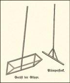 Zeichnung: Gerüst der Aalglippe und Plumperstock - 1886
