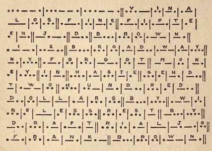 Text im Morsecode verfasst