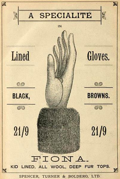 Katalogabbildung: schicker Handschuh