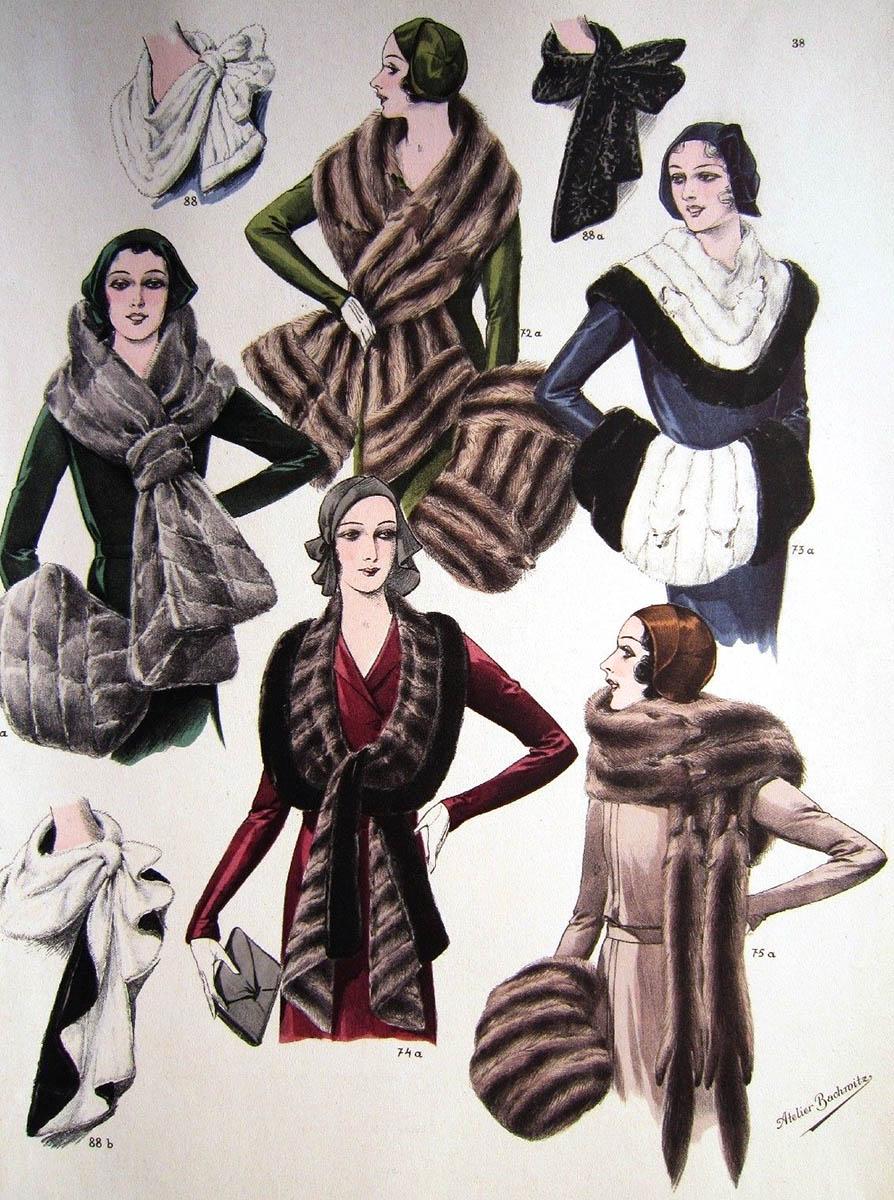 Reklame: Pelzmode für die Frau von 1920