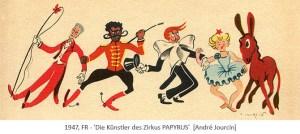 Kinderbuchillu: Die Künstler des Zirkus PAPYRUS - 1947, FR