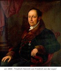 Gemälde: Portrait des Friedrich Heinrich von Friedrich von der Leyen - um1800
