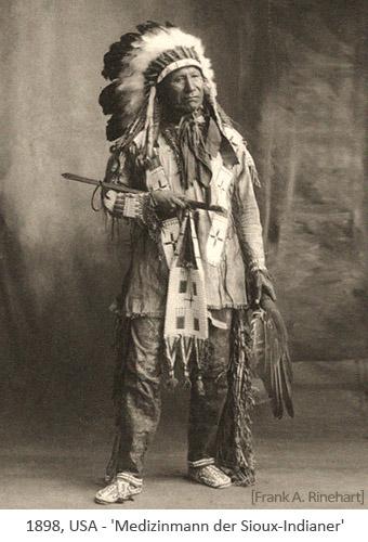 sw Foto: Medizinmann der Sioux-Indianer - 1898, USA