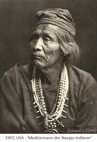 sw Foto: Medizinmann der Navajo-Indianer - 1907, USA