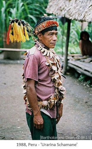 Farbfoto: Urarina Schamane - 1988, Peru