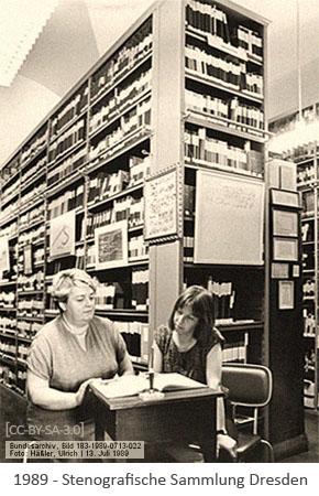 sw Foto: Stenografische Sammlung Dresden - 1989