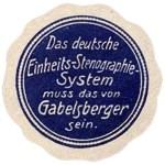 Reklamemarke für das deutsche Einheits-Stenographie-System