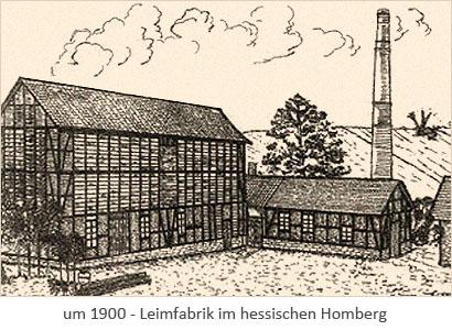 Zeichnung: Leimfabrik in Homberg ~1900, Hessen