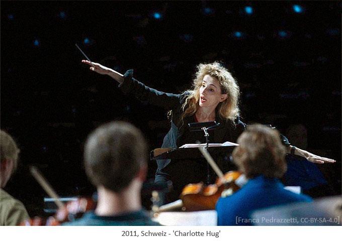 Farbfoto: Dirigentin Charlotte Hug - 2011, Schweiz