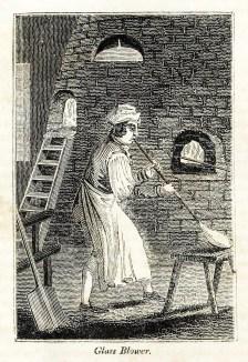 Glasbläser bei seiner Arbeit