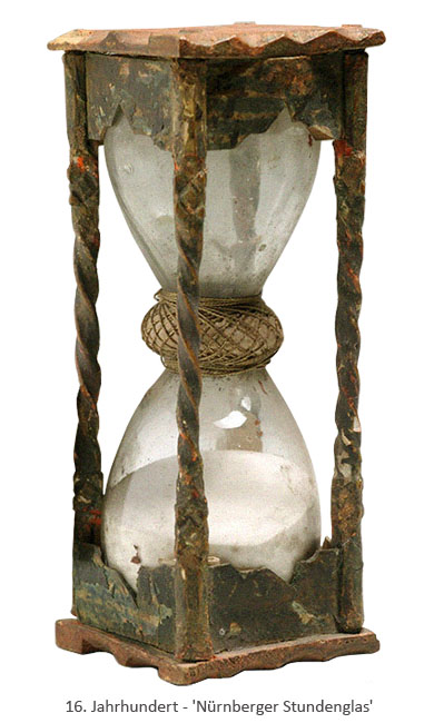Farbfoto: Nürnberger Stundenglas - 16. Jh