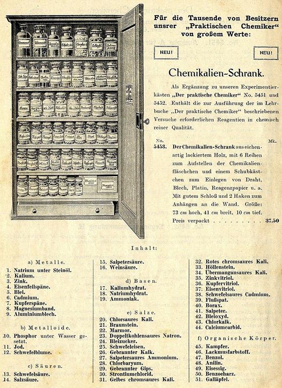 alte Reklame für Chemikalien