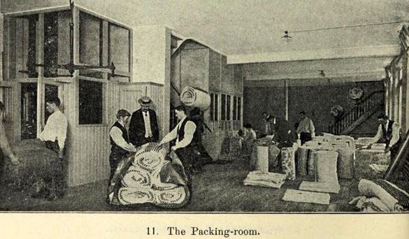 sw-Foto: der Packraum