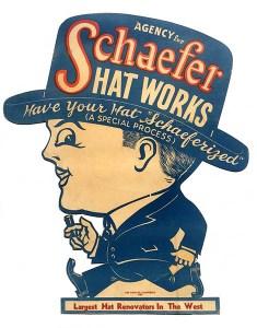 Werbefigur Hutmacher
