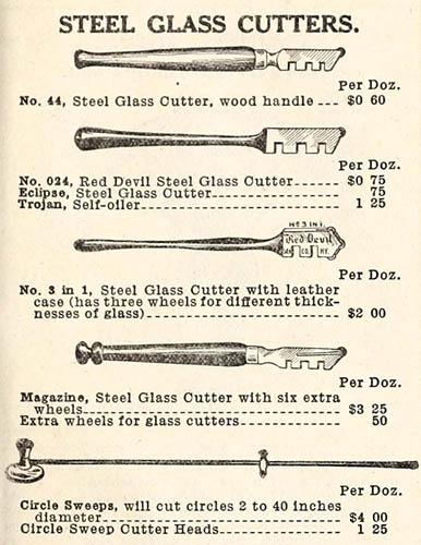 Reklame für Glasschneider