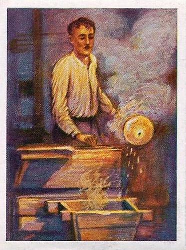 Sammelbild: Mann bearbeitet Glas