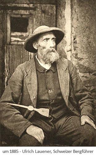 sw Foto: der Schweizer Bergführer Ulrich Lauener ~1885
