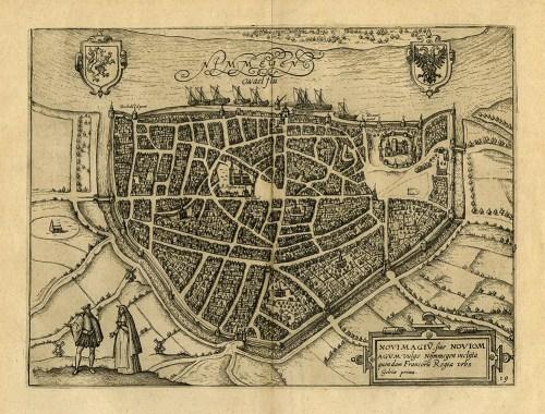 historische, niederländische Stadtkarte