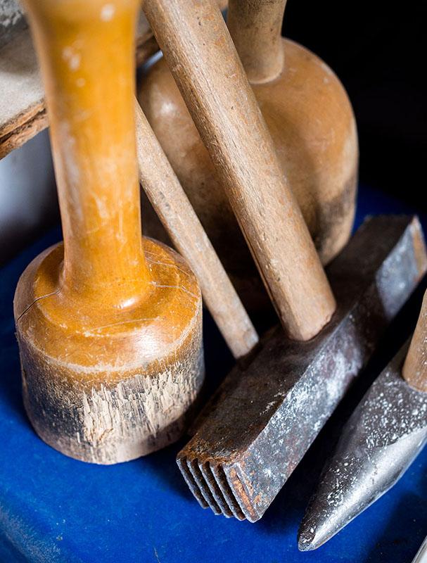 Werkzeuge zum Bildhauen