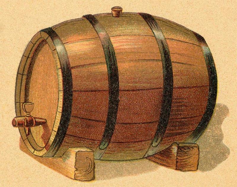fabrige Zeichnung: sehr großes Weinfass