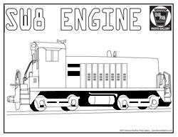 Polar Express Train Engine Coloring Page Polar Express