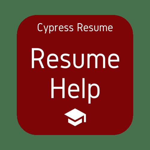 Cypress Resume Resume Help