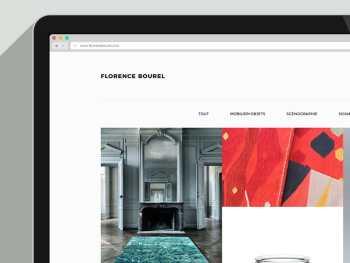 site de Florence Bourel, designer