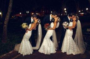 Braziliaanse drieling-bruiloft
