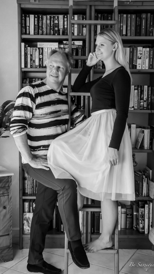 Das beste DIY Geschenk zum Vatertag. Zeige deine Liebe. Ein Blogpost über die Liebe eines Vaters. Pictures: Black and White Family, Desigual, Tutu Skirt.