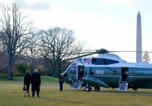 Trump verlaat het Witte Huis voorgoed.