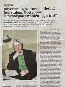 foto van krantenartikel