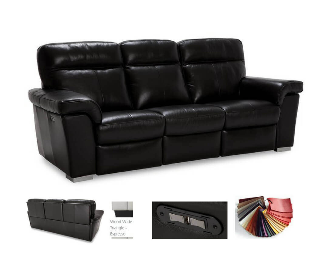 Hybrid Contemporary Leather Reclining Sofa Loveseat Recliner