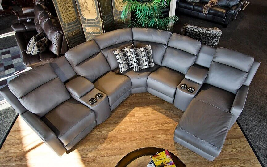 3 piece leather sectional sofa with chaise velvet ikea cover reclining sectionals | be seated furniture