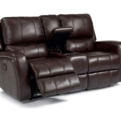Reclining Sofa Leather Bentley Sectional Reviews Power Recliner