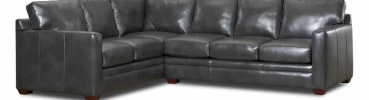 grey leather l shaped sectionals