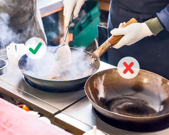 أكثر الأخطاء الشائعة عند الطهي