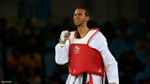2016 Rio Olympics - Taekwondo - Preliminary - Men's - 58kg Preliminary Round - Carioca Arena 3 - Rio de Janeiro, Brazil - 17/08/2016. Omar Hajjami (MAR) of Morocco celebrates after winning the match. REUTERS/Issei Kato FOR EDITORIAL USE ONLY. NOT FOR SALE FOR MARKETING OR ADVERTISING CAMPAIGNS.