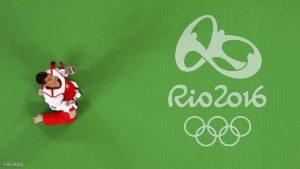2016 Rio Olympics - Taekwondo - Quarterfinal - Men's -68kg Quarterfinals - Carioca Arena 3 - Rio de Janeiro, Brazil - 18/08/2016. Ahmad Abughaush (JOR) of Jordan celebrates winning the match. REUTERS/Issei Kato FOR EDITORIAL USE ONLY. NOT FOR SALE FOR MARKETING OR ADVERTISING CAMPAIGNS.