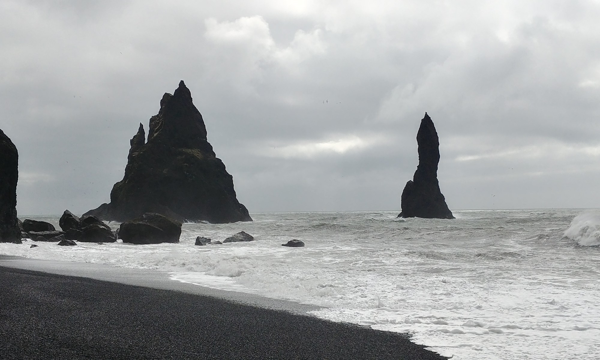 Reynisfjara Black Sand Beach on Iceland