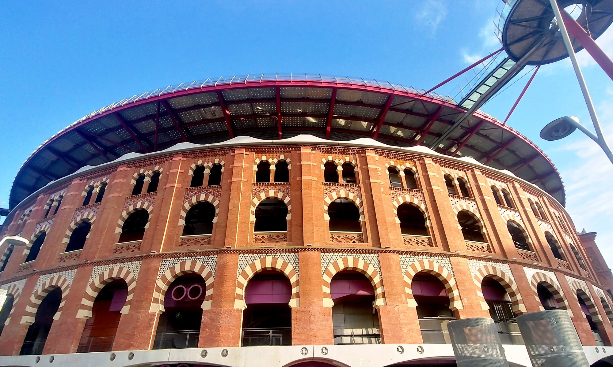 Barcelona, Spain – February 3, 2020: Las Arenas de Barcelona old bullfighting ring nowadays reconverted to a shopping mall.