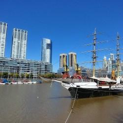 Buenos Aires, Argentina – September 11, 2019: corbeta ARA Uruguay at Puerto Madero.