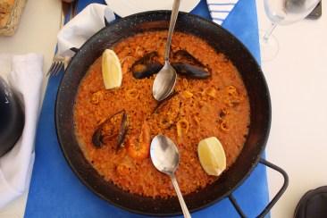 Paella de marisco in El Palmar